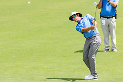 May 4, 2019 - Charlotte, NC, U.S. - CHARLOTTE, NC - MAY 04: Joel Dahmen hits an approach shot on the 3td hole during the third round of the Wells Fargo Championship at Quail Hollow on May 4, 2019 in Charlotte, NC. (Photo by William Howard/Icon Sportswire) (Credit Image: © William Howard/Icon SMI via ZUMA Press)