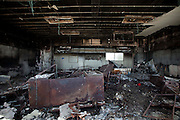 The classroom was burned away.