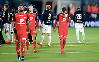 Fotball , 19 . november 2017 , Eliteserien<br /> Strømsgodset - Brann 2-1<br /> Bismar Acosta , Fredrik Haugen  og Ruben Kristiansen , Brann depper etter 2-1 tap
