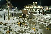 Nov. 27, 2013 - Prishtina, Kosovo - Prishtina squares after the snow. (Credit Image: © Vedat Xhymshiti/ZUMAPRESS.com)