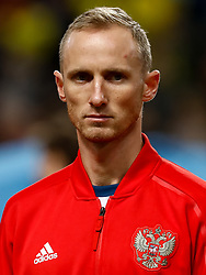 November 20, 2018 - Stockholm, Sweden - Vladislav Ignatyev of Russia looks on during the UEFA Nations League B Group 2 match between Sweden and Russia on November 20, 2018 at Friends Arena in Stockholm, Sweden. (Credit Image: © Mike Kireev/NurPhoto via ZUMA Press)