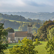 St John's church in the ancient hamlet of Pitchcombe in the Painswick valley between Stroud and Painswick. Built in 1819 on the site of a former church built in 1376. Near to the Wick stream, which once provided the energy for the local woollen mills.