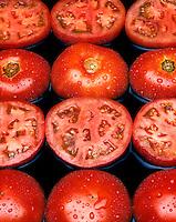 large fresh tomatoes sliced