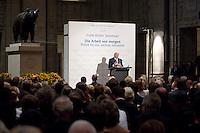"""03 AUG 2009, BERLIN/GERMANY:<br /> Frank-Walter Steinmeier, SPD, Bundesaussenminister und Kanzlerkandidat, Veranstaltung der Karl-Schiller-Stiftung zum Thema """"Die Arbeit von morgen - Politik fuer das naechste Jahrzehnt"""", Baerensaal, Altes Stadthaus<br /> IMAGE: 20090803-02-087<br /> KEYWORDS: Deutschland-Plan, Rede, speech"""