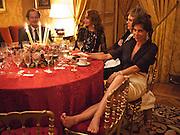 MARISSA BERENSON; FLORIAN ZELLER; CHRISTINE ORBAN, Dinner for Jacqueline de Ribes after Legion d'honneur award. 50 Rue de la Bienfaisance. Paris.