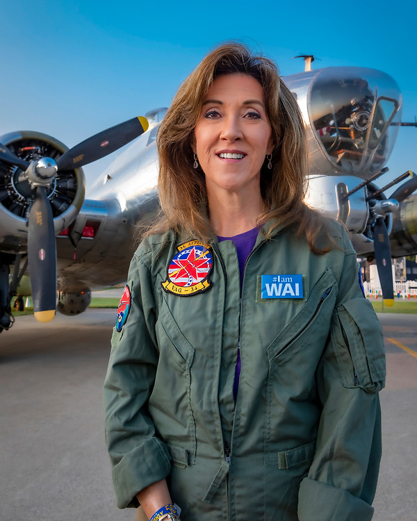 Formal Navy aviator and Southwest Airlines Captain Tammie Jo Shults.<br /> <br /> Created by aviation photographer John Slemp of Aerographs Aviation Photography. Clients include Goodyear Aviation Tires, Phillips 66 Aviation Fuels, Smithsonian Air & Space magazine, and The Lindbergh Foundation.  Specialising in high end commercial aviation photography and the supply of aviation stock photography for advertising, corporate, and editorial use.