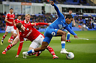 Peterborough United forward Ivan Toney (17) in the box during  the EFL Sky Bet League 1 match between Peterborough United and Barnsley at The Abax Stadium, Peterborough, England on 6 October 2018.