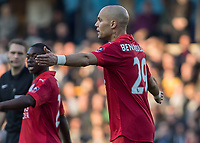 Football - 2016 / 2017 FA Cup - Fifth Round: Millwall vs. Leicester City <br /> <br /> Yohan Benalouane of Leicester City organises his defence at The Den<br /> <br /> COLORSPORT/DANIEL BEARHAM