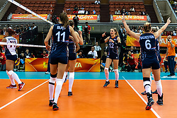 08-10-2018 JPN: World Championship Volleyball Women day 9, Nagoya<br /> Netherlands - Dominican Republic 3-0 / Britt Bongaerts #12 of Netherlands