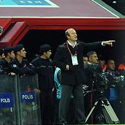 Gaziantepspor's coach Abdullah ERCAN during their Turkish Superleague Galatasaray between Gaziantepspor at the TT arena in Istanbul Turkey on Wednesday 26 October 2011. Photo by TURKPIX