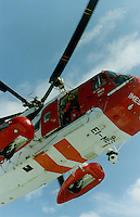 Irish search and rescue helicopter IMES in practice manoeuvres off the west coast of Ireland