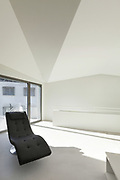 Architecture, interior of a modern house, white walls