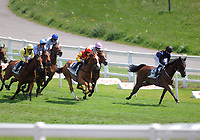 Horse Racing - Epsom Festival - Derby Day - Epsom Downs. <br /> <br /> Oisin Murphy on Parent's Prayer (no. 3) leads the field at Tottenham corner and winning the 2.30 <br /> in the Princess Elizabeth Stakes<br /> <br /> Credit : COLORSPORT/ANDREW COWIE