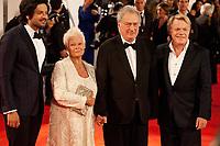 Ali Fazal, Judi Dench, Stephen Frears and Eddie Izzard at the premiere of the film Victoria & Abdul at the 74th Venice Film Festival, Sala Grande on Sunday 3 September 2017, Venice Lido, Italy.
