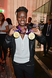 NICOLA ADAMS at a party to celebrate the 21st anniversary of The Roar Group hosted by Jonathan Shalit held at Avenue, 9 St.James's Street, London on 21st September 2015.