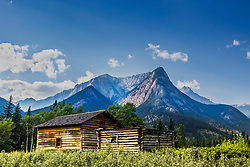 Old homestead in Jasper National Park. Ewan and Madeline Moberly raised ten kids here in the early 1900s.