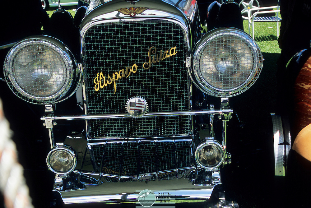 The J12 was powered by a V12 engine with pushrod-operated overhead valves.[1] The engine initially displaced 9.4 L (574 cu in)[2][3] with bore and stroke both being 100 mm (3.9 in) and, with a compression ratio of 5.0:1,[3] delivered 220 hp at 3000 rpm.[2][3] Two cars were fitted with long-stroke engines displacing 11.3 L (690 cu in) and delivering 250 hp, and several J12s were later upgraded to the larger engine. Each engine block was machined from a single 700 lb (318 kg) billet.[2]<br /> <br /> Hispano-Suiza suspended automobile production in 1938 to concentrate on the manufacture of aircraft engines.[1]