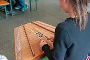 Tyrolean musician in traditional dress. Photographed in Neustift im Stubaital Tyrol, Austria.