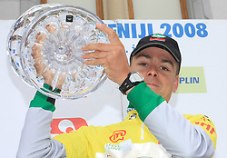 Jure Golcer of Slovenia (LPR Brakes) winner of the 15th Tour de Slovenie. Picture was taken at the end of 4th stage from Celje to Novo mesto (157 km), on June 14,2008, Slovenia. (Photo by Vid Ponikvar / Sportal Images)/ Sportida)