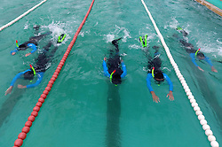 June 20, 2017 - Beihai, Beihai, China - Beihai, CHINA-June 20 2017: (EDITORIAL USE ONLY. CHINA OUT) Soldiers receive training of aquatic skills in Beihai, southwest China's Guangxi, June 20th, 2017. (Credit Image: © SIPA Asia via ZUMA Wire)