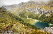 Lake Mackenzie on the Routeburn Track, South Island, New Zealand