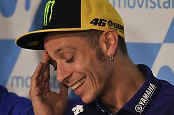 September 22, 2017 - Alcaniz, Spain - Valentino Rossi (Movistar Yamaha MotoGP) during press conference of Aragon Motogp (Credit Image: © Gaetano Piazzolla/Pacific Press via ZUMA Wire)