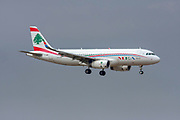 T7-MRF MEA - Middle East Airlines Airbus A320-200 at Malpensa (MXP / LIMC), Milan, Italy