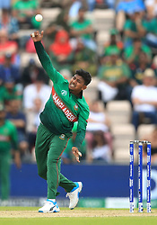 Bangladesh's Mosaddek Hossain during the ICC Cricket World Cup group stage match at The Hampshire Bowl, Southampton.