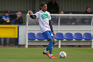 AFC Wimbledon attacker Michael Folivi (41) warming up during the EFL Sky Bet League 1 match between AFC Wimbledon and Doncaster Rovers at the Cherry Red Records Stadium, Kingston, England on 9 March 2019.