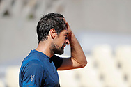 Jeremy Chardy (FRA) at practice on tennis court 2 during the Roland Garros French Tennis Open 2017, preview, on May ......, 2017, at the Roland Garros Stadium in Paris, France - Photo Stephane Allaman / ProSportsImages / DPPI