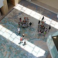 USA, Colorado, Denver. Colorado History Museum atrium floor.