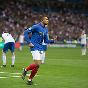 PARIS, FRANCE - March 25: Kylian Mbappé #10 of France after scoring his sides third goal during the France V Iceland, 2020 European Championship Qualifying, Group Stage at  Stade de France on March 25th 2019 in Paris, France (Photo by Tim Clayton/Corbis via Getty Images)