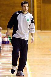 Head coach Robert Begus at last 10th Round handball match of Slovenian Women National Championships between RK Krim Mercator and RK Olimpija, on May 15, 2010, in Galjevica, Ljubljana, Slovenia. Olimpija defeated Krim 39-36, but Krim became Slovenian National Champion. (Photo by Vid Ponikvar / Sportida)