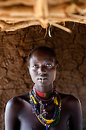 A Jie woman in her home outside of Boma.