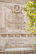 Plaque commemorating Napoleons return from the Island of Elba on facade of church, Notre-Dame de Bon Voyage, Cannes