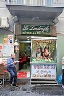 Tripperia (restaurant serving tripe) on a street market in Naples, Italy © Rudolf Abraham