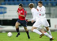 Fotball<br /> Norge - Hviterussland U21 2-3<br /> Drammen 07.04.2004<br /> Foto: Morten Olsen, Digitalsport<br /> <br /> Mounir Hamoud (15)