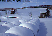 Snow-covered Farms, PA Landscapes, Dauphin Co., Pennsylvania