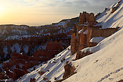 USA, Utah, Bryce Canyon National Park, sunrise at Inspiration Point
