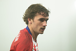 January 19, 2019 - Huesca, Aragon, Spain - Griezmann of Atletico de Madrid (7) during the Spanish League football match between SD Huesca andClub Atletico de Madrid at the El Alcoraz stadium in Madrid on January 19, 2019. Atletico wins 0-3. (Credit Image: © Daniel Marzo/Pacific Press via ZUMA Wire)