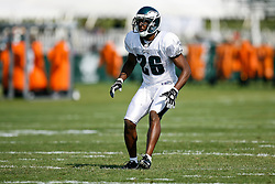 Philadelphia Eagles safety Sean Jones #26 during the Philadelphia Eagles NFL training camp in Bethlehem, Pennsylvania at Lehigh University on Saturday August 8th 2009. (Photo by Brian Garfinkel)