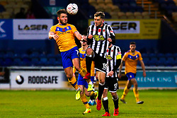 Alex MacDonald of Mansfield Town gets to the ball - Mandatory by-line: Ryan Crockett/JMP - 09/11/2019 - FOOTBALL - One Call Stadium - Mansfield, England - Mansfield Town v Chorley - Emirates FA Cup first round