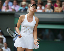 02.07.2011, Wimbledon, London, GBR, WTA Tour, Wimbledon Tennis Championships, Final, im Bild Maria Sharapova (RUS) looks dejected as she loses a point during the Ladies' Singles Final on day twelve of the Wimbledon Lawn Tennis Championships at the All England Lawn Tennis and Croquet ClubEXPA Pictures © 2011, PhotoCredit: EXPA/ Propaganda/ David Rawcliffe +++++ ATTENTION - OUT OF ENGLAND/UK +++++