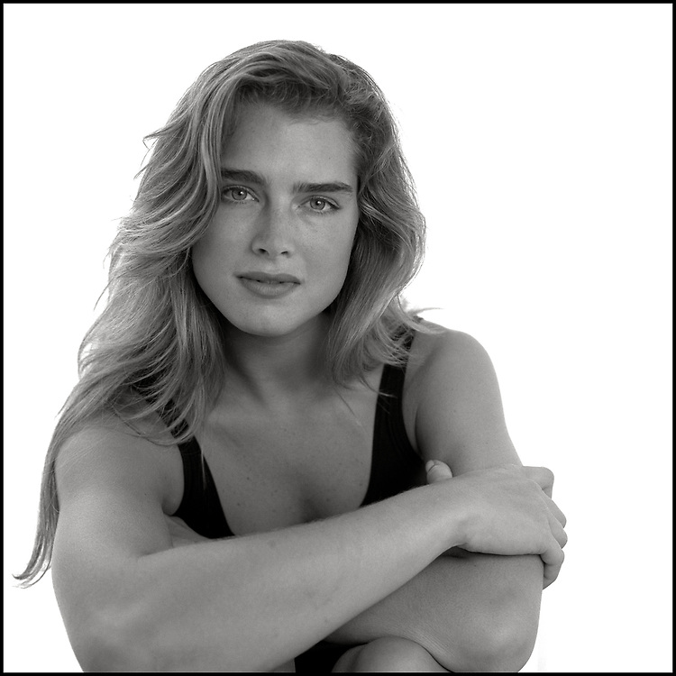 Brooke Shields photographed in New York City in 1989.