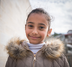 16 February 2020, Irbid, Jordan: Eight-year-old Jordanian girl Shimaa smiles after participating in a psychosocial support session for Syrian refugees and Jordanian host community families, organized by the Lutheran World Federation.
