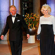 NLD/Amsterdam/20130429- Afscheidsdiner Konining Beatrix Rijksmuseum, crownprince Charles and his wife Camilla Parker Bowles of England