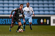 Morecambe  midfielder Andrew Fleming (17)  during the The FA Cup match between Coventry City and Morecambe at the Ricoh Arena, Coventry, England on 15 November 2016. Photo by Simon Davies.