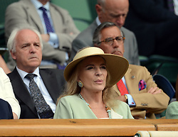 © Licensed to London News Pictures. 23/06/2014. Wimbledon, UK Prince Michael of Kent watches Djokovic v Golubev  in the 1st round at the Wimbledon Tennis Championships 23rd June 2014. Photo credit : Mike King/LNP
