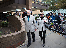 Image ©Licensed to i-Images Picture Agency. 23/09/2014. London, United Kingdom. Dave Lee Travis walks out the court after been found guilty. Southwark Crown Court. Picture by Daniel Leal-Olivas / i-Images