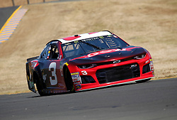 June 22, 2018 - Sonoma, CA, U.S. - SONOMA, CA - JUNE 22: Austin Dillon, driver for Richard Childress Racing is seen during practice for the Monster Energy NASCAR Cup Series - Toyota/Save Mart 350 at Sonoma Raceway in Sonoma, CA. (Photo by Larry Placido/Icon Sportswire) (Credit Image: © Larry Placido/Icon SMI via ZUMA Press)